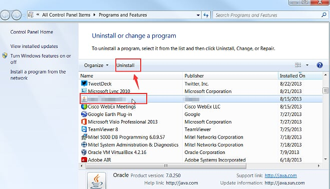 Uninstall Applications for Sound